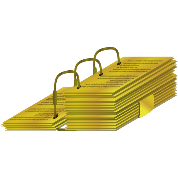 Vector illustration of gold plates