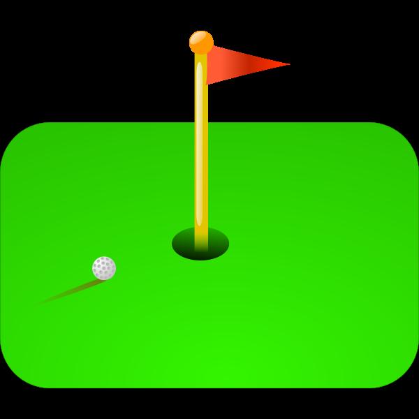 Golf flag vector illustration