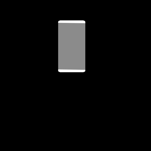 Mobile phone vector clip art