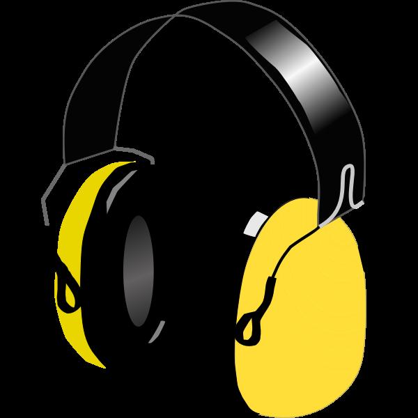 Vector image of headphones