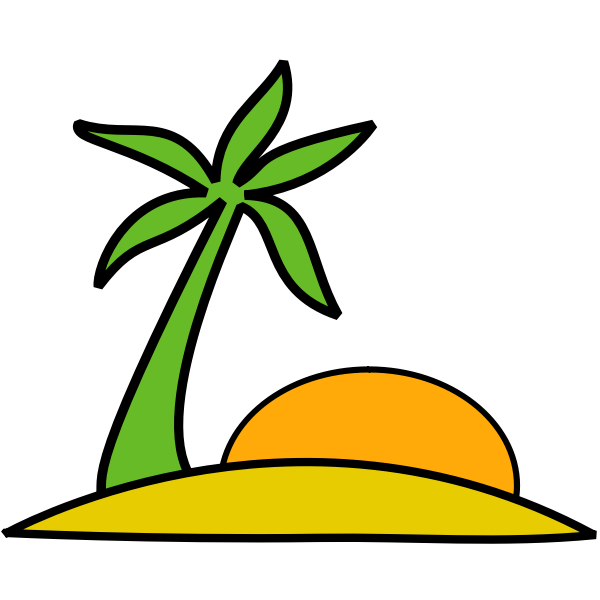 Vector image of beach landscape