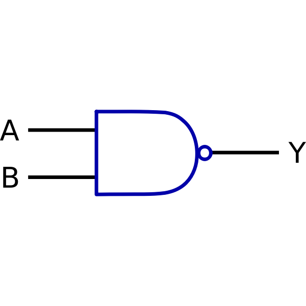 Logic function NAND vector drawing