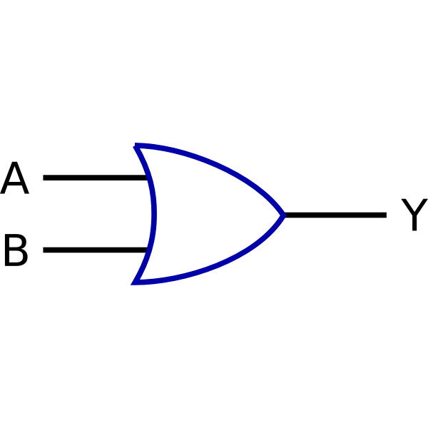 Logic function OR vector clip art