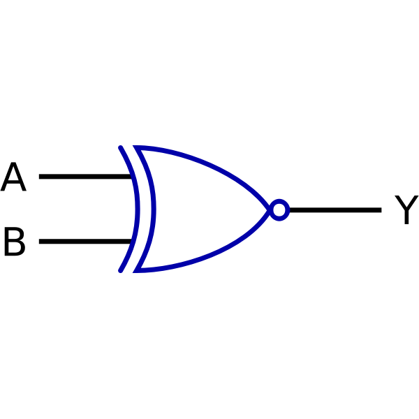 Logic function Exclusive-NOR vector drawing