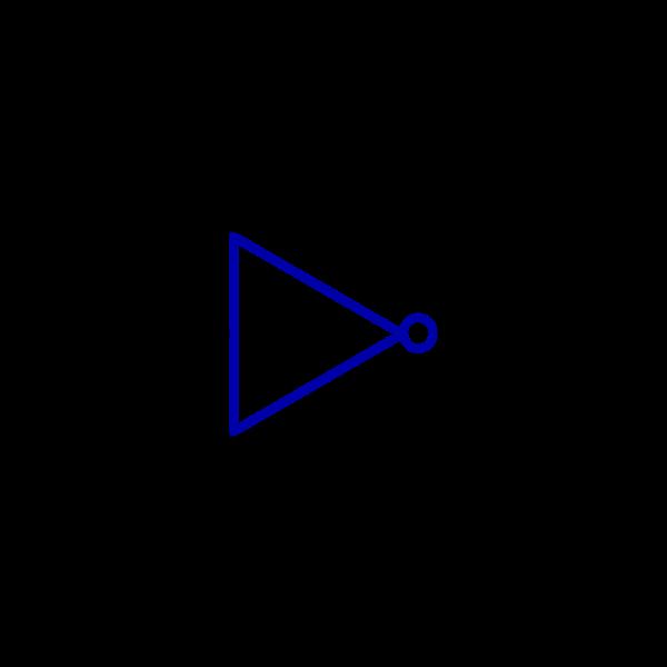 Logic function Inverter vector graphics