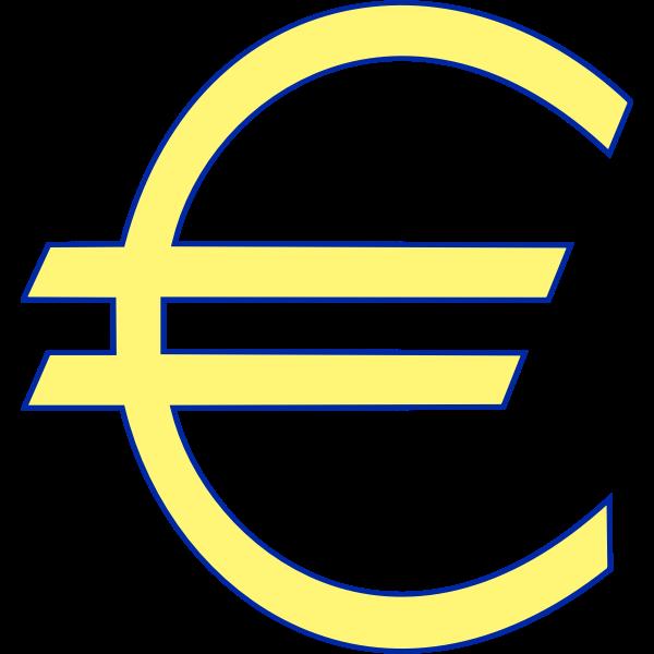 Monetary euro symbol vector