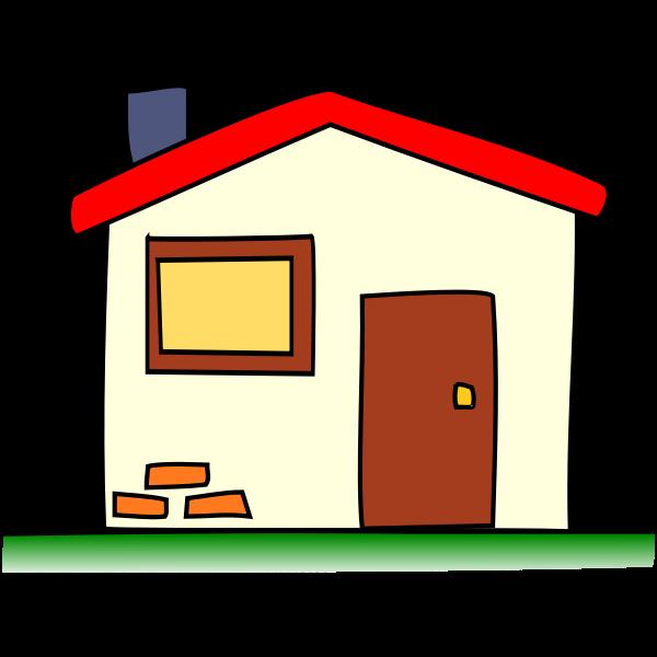 Simple house vector clip art image