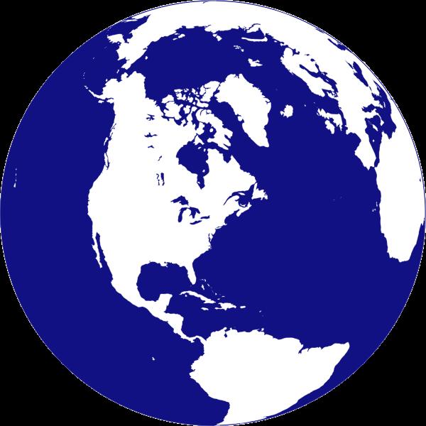 Northern hemisphere globe vector clip art