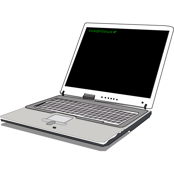 Linux notebook vector image