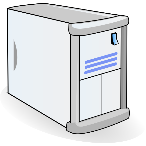 Network server with shadow  vector image