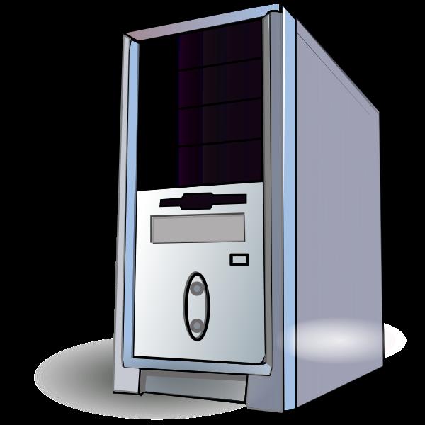 PC CPU box vector image