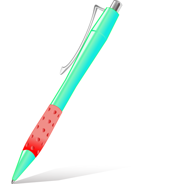 Red glossy pen vector image