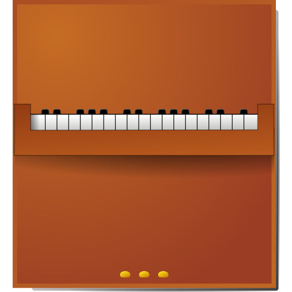 Vector drawing of a piano