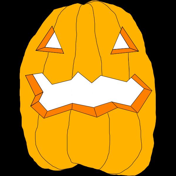 Cut Halloween pumpkin vector drawing