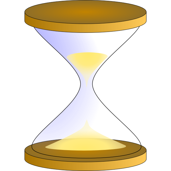 Sandglass timer vector image