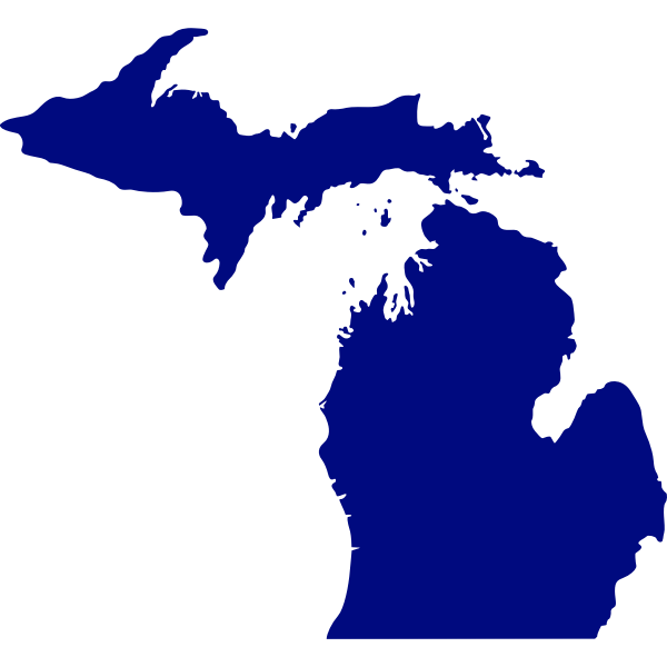Vector map of State of Michigan
