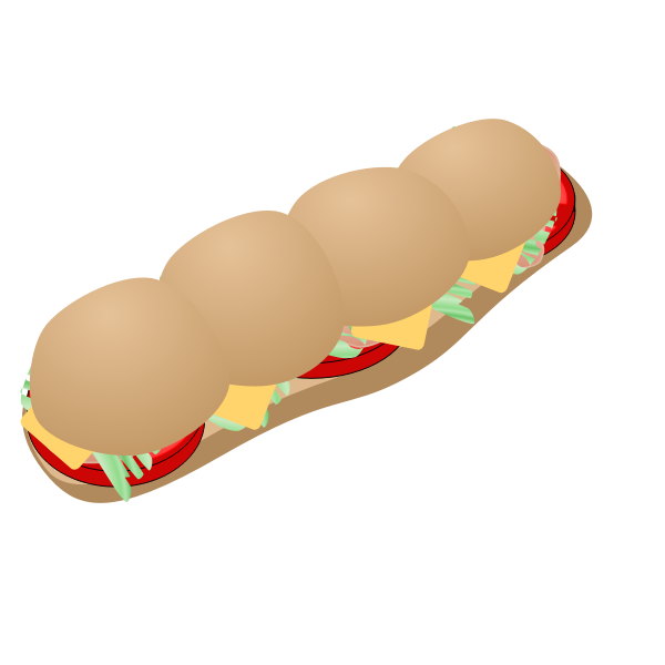 Vector illustration of submarine sandwich