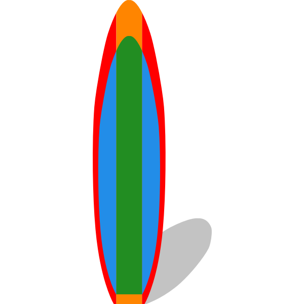 Surfboard vector clip art image