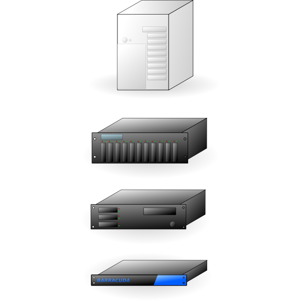 Internet servers vector illustration