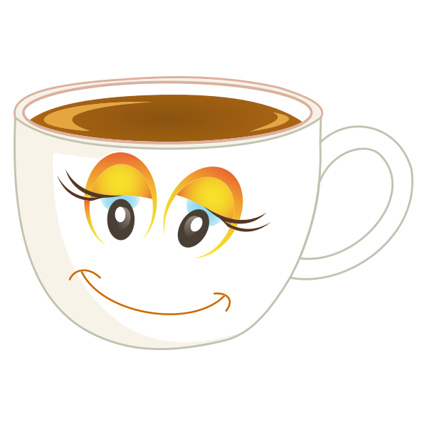 Smiling coffee cup
