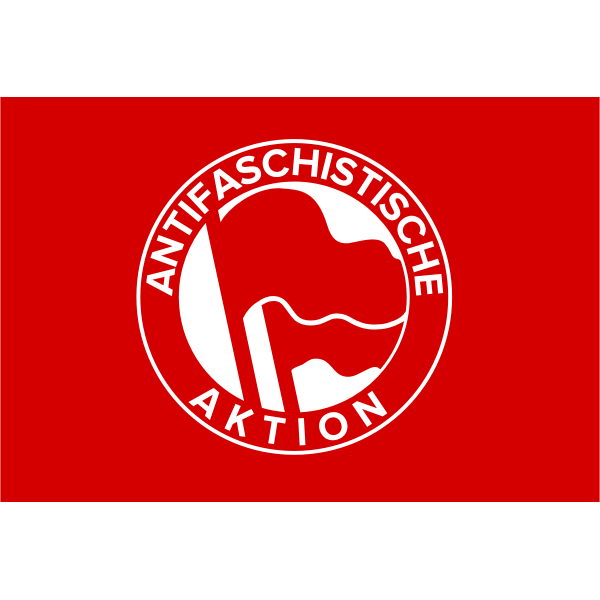 Antifascist action flag vector clip art