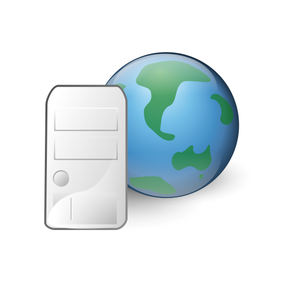World wide web server icon vector drawing