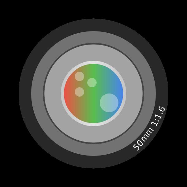 Vector clip art of 50mm photo camera lens
