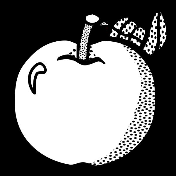 Fresh apple vector line art vector graphics