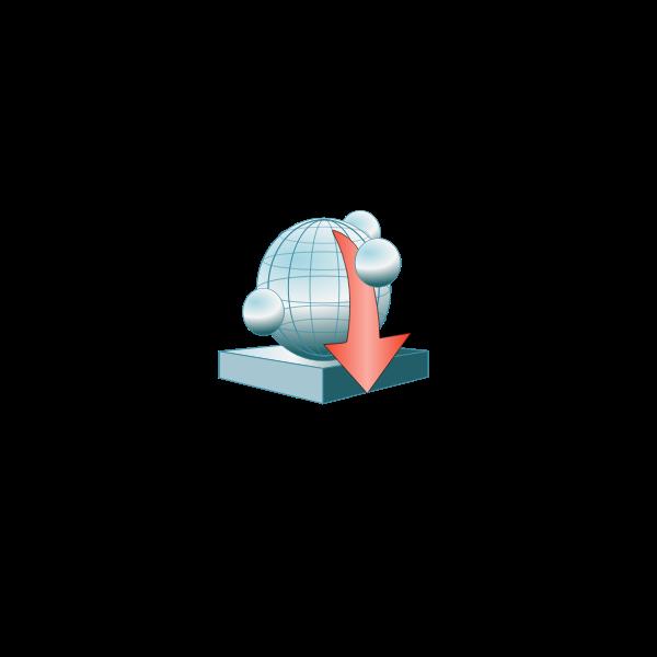 App server platform down vector clip art