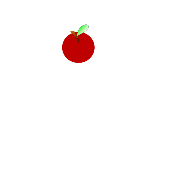 Vector illustration of small red apple