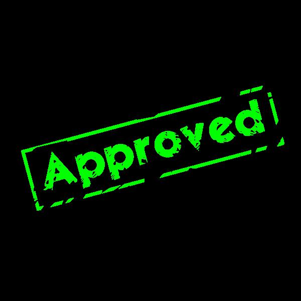 Approved stamp imprint vector clip art