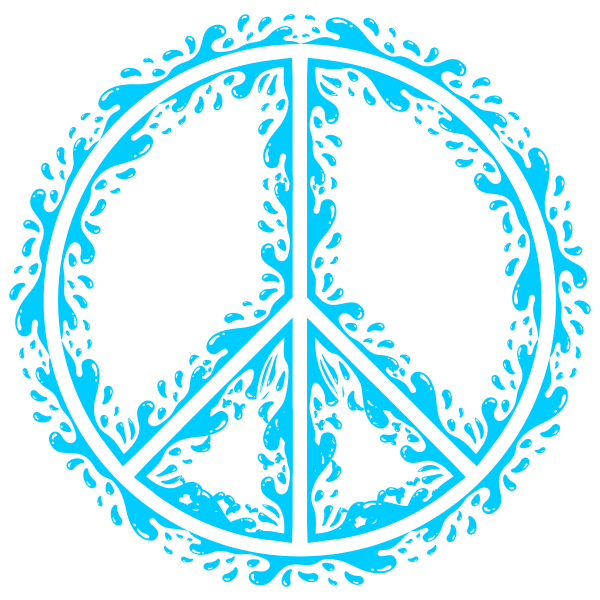 Peace sign outline