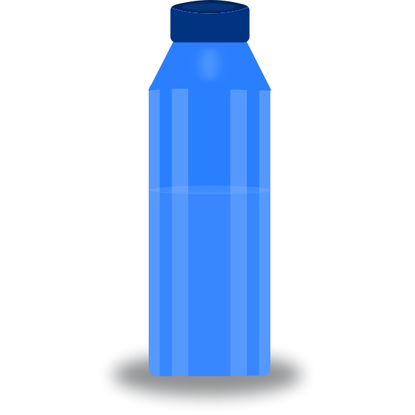 Water bottle vector drawing