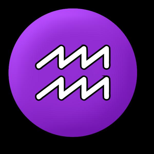Aquarius purple symbol