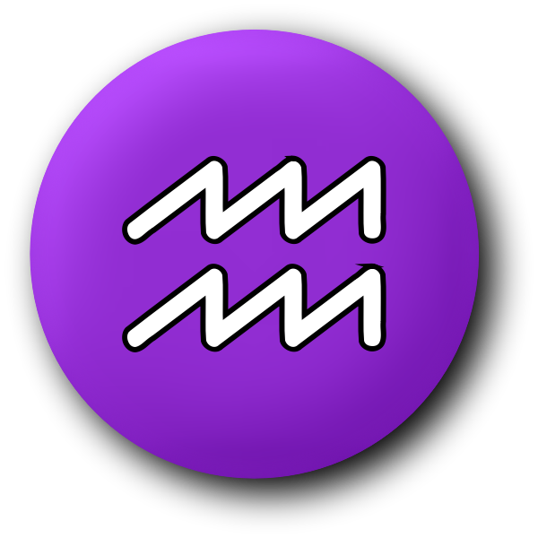 Aquarius purple symbol