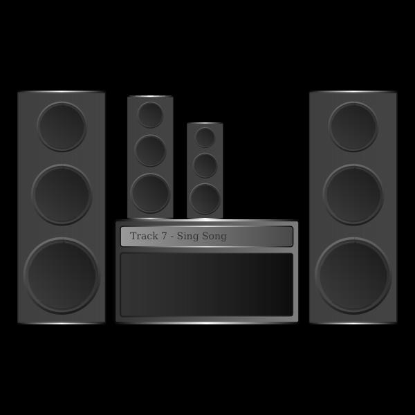 Hi-fi Stereo vector