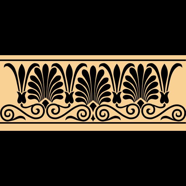 Greek antique banner decoration vector image