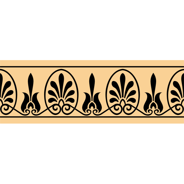 Greek arabesque decoration vector image