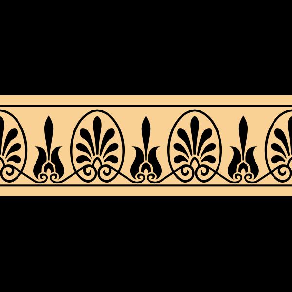 Greek arabesque decoration vector image