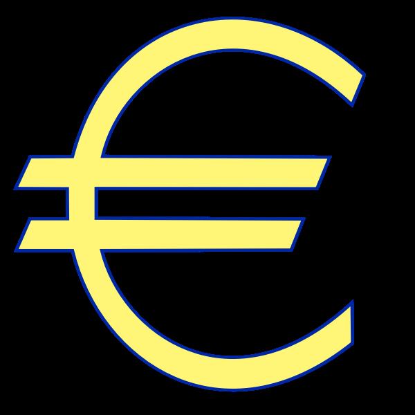 Money euro symbol vector