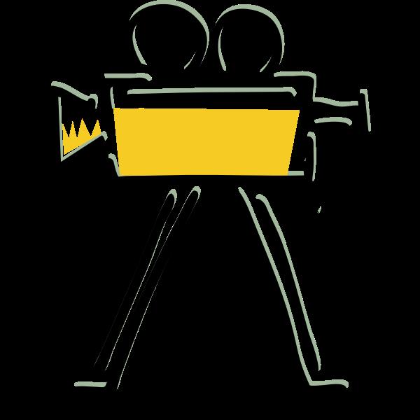 Movie camera recording sign vector image