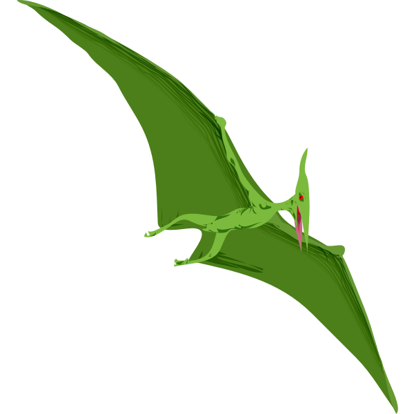 Vector drawing of reptile in flight