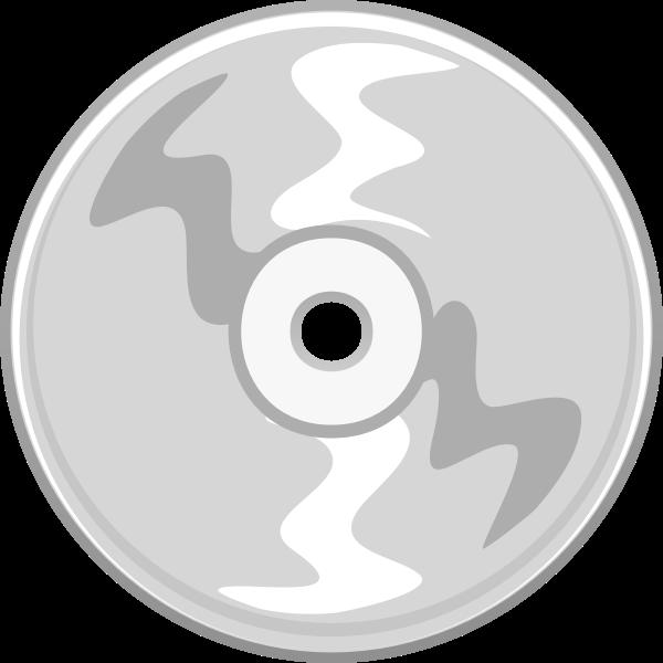 Vector clip art of gray compact disc