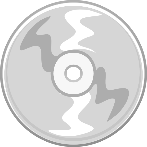 Vector clip art of gray compact disc