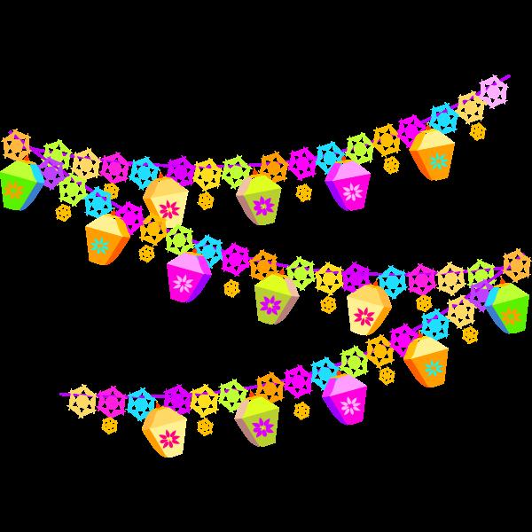 Colorful festive decoration vector image