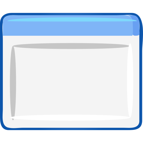 Computer window icon vector image