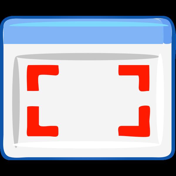 Computer windows select icon vector image