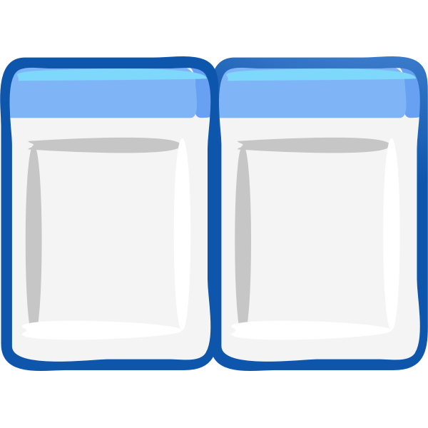 Computer windows arranged side by side icon vector image