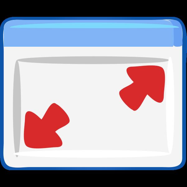 Computer windows maximize icon vector image