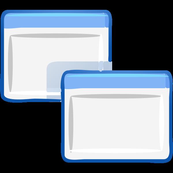Computer windows cascade vector image
